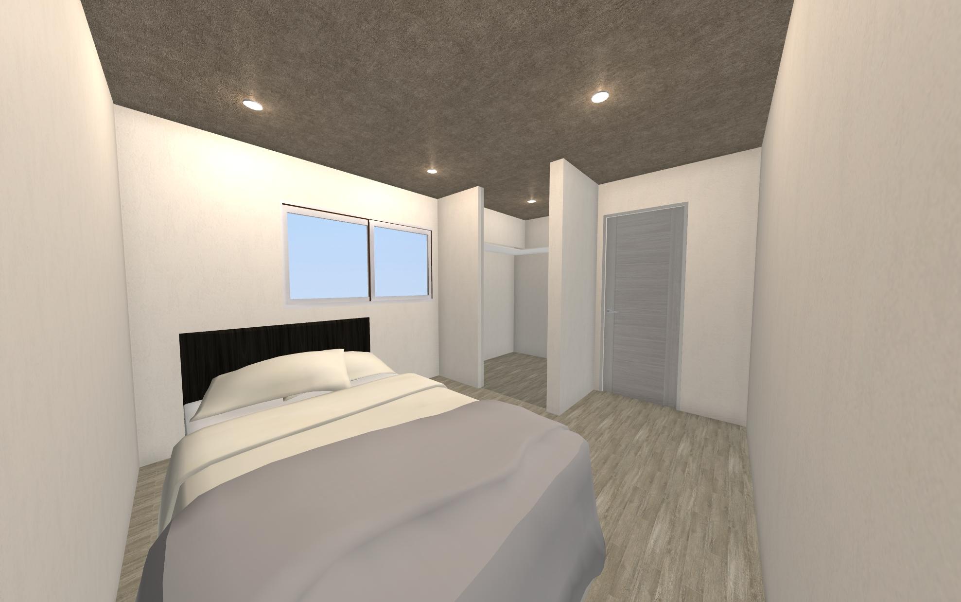 和室だったお部屋は洋室に。押し入れを利用したウォークインクローゼットもあります!