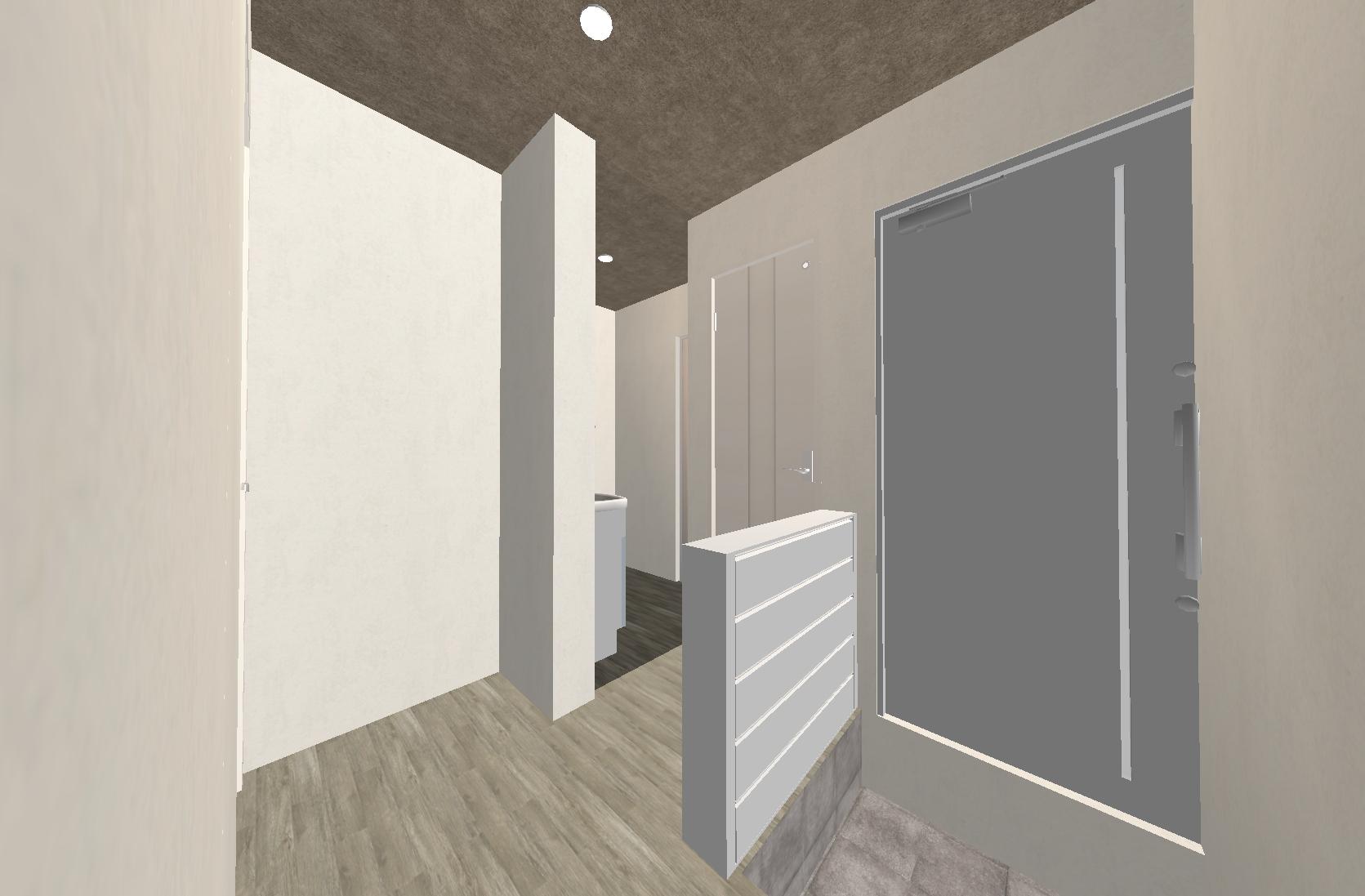 グレーとホワイトを基調とし、どんな家具とも合わせやすいお部屋になってます。