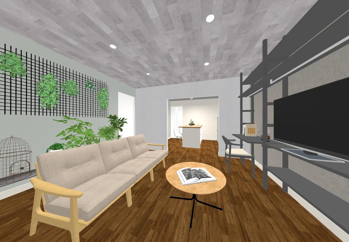 シェルフリーはテレビ台や本棚、デスクスペースとしても使えて便利!
