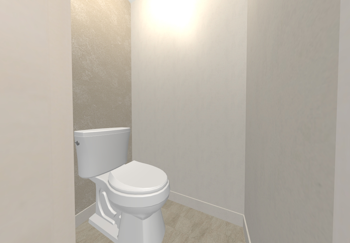 トイレはベージュで統一、汚れの目立ちにくいデザインです