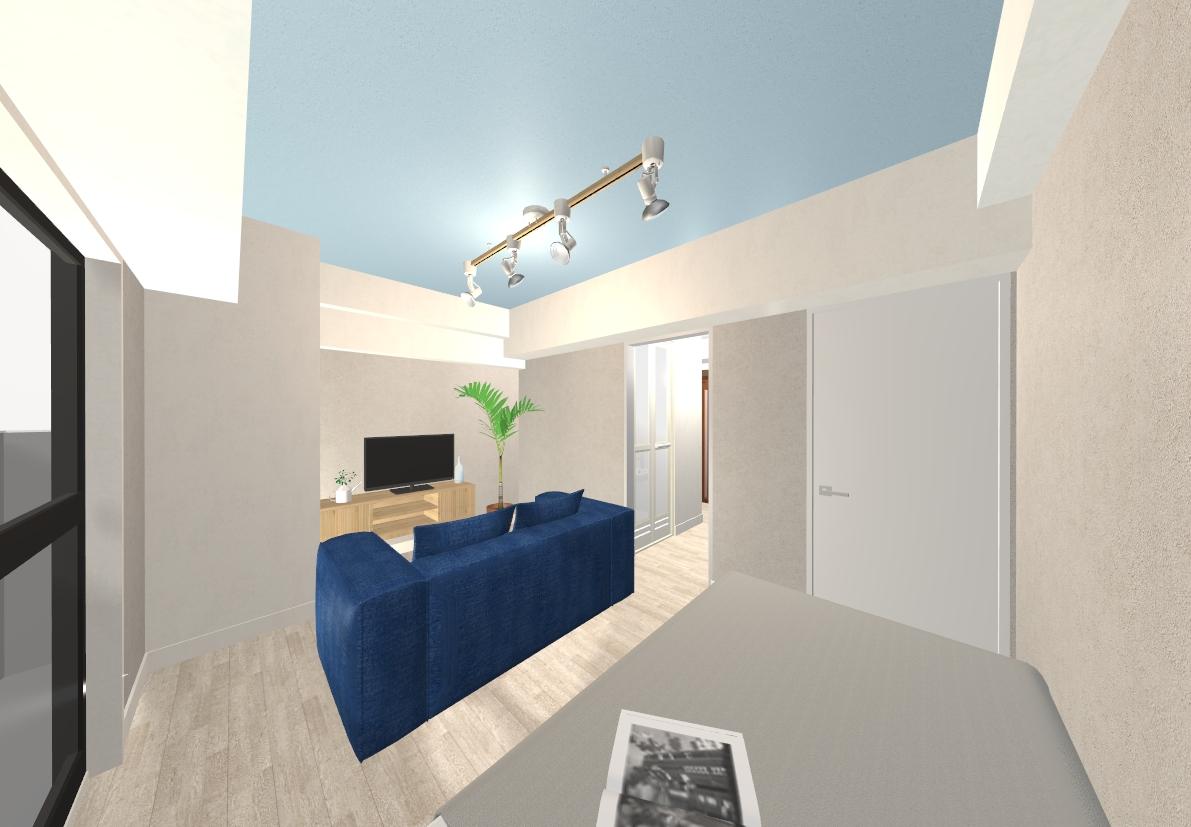 全体を淡いカラーでまとめ、過ごしやすい空間にデザインしました。